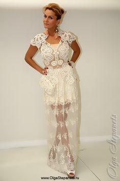 2 Irish Lace, Crochet Patterns, Crochet Tops, Formal Dresses, Cl, Awesome, Fashion, Classy Dress, Vestidos