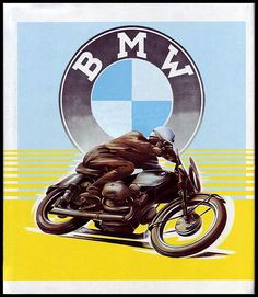 Vintage BMW Poster | Motorcycle Posters, Art, Stamps, etc | Pinterest