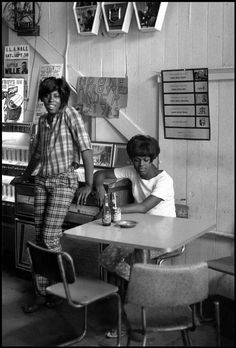 danny lyon - pumpkin renee and roberta [bar scene], galveston, texas, 1967