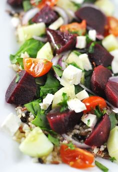 Steamed Beet & Whole Grain Barley Salad