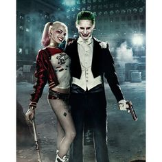 ySuicide Squad Joker and Harley movie poster 11x17 ($8) ❤ liked on Polyvore featuring home, home decor, wall art and paper wall art
