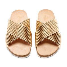 Petra Cross Strap - Sandals   Loeffler Randall love the gold coloring!=)