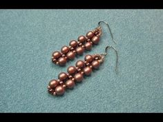 Right Angle Weave Earrings with Gail Nettles - a small starter project ~ Seed Bead Tutorials