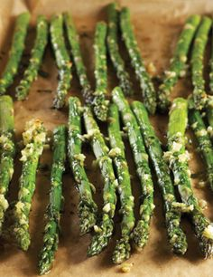 Roasted-Garlic Asparagus~ This was so delicious. I added Parmesan cheese also.