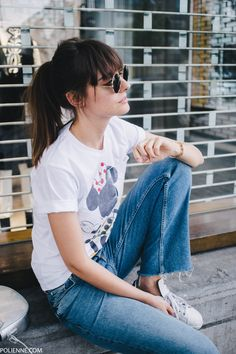 POLIENNE | wearing a Victoria Beckham tee, & Other Stories denim and Adidas sneakers