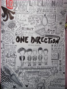 One Direction Doodles by ~taylorbrooker One Direction Fan Art, One Direction Drawings, Lyric Drawings, One Direction Wallpaper, One Direction Harry Styles, One Direction Pictures, Tattoo Drawings, Pencil Drawings, Art Drawings