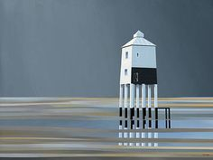Michael Kidd artist, paintings and art at the Red Rag Modern Art Gallery Modern Art, Contemporary Art, British Seaside, British Artists, Seaside Towns, Garden Theme, Beach Art, Limited Edition Prints, Lighthouses
