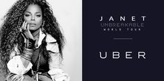 """Need a ride to the holiday party? JANET has partnered with Uber! For new users who sign up for the Uber app, the first ride is free, up to $15, and you'll receive a digital copy of JANET's new album when you use the promo code """"UNBREAKABLE"""" (download is subject to a $3.49 service fee).  Travel safely this holiday season! http://t.uber.com/jj -Janet's Team"""