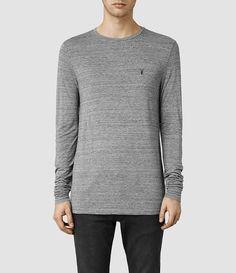 ebac0ffde3 Mens Meter Tonic Long Sleeved Crew (Charcoal Marl) -  product image alt text 1 T Shirt Vest