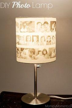 Diy Photo lamp Way Cool. (: #Home #Garden #Trusper #Tip