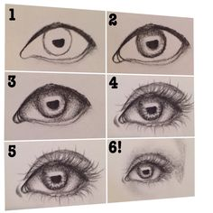These are some steps I use when drawing a simple eye I hope it helps