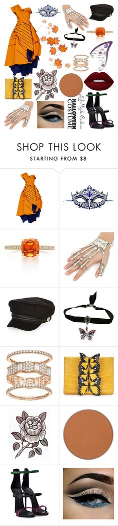 """""""Distressed Beauty."""" by jennerfurr on Polyvore featuring Maticevski, Masquerade, River Island, Nancy Gonzalez, Anastasia Beverly Hills, Giuseppe Zanotti and Lime Crime"""