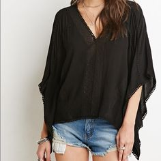Crepe Caftan top New new new Forever 21 Tops Tunics