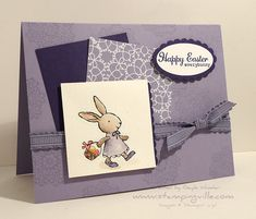 Easter Card Idea Using Everybunny Stamp Set by Stampin' Up!