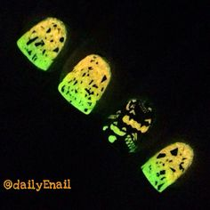 Pin for Later: 102 Halloween Nail Art Ideas That Are Better Than Your Costume Ghoulish Glow