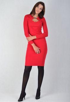 Sukienka Enny 18005 Czerwona
