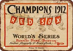 1912 World Series Red Sox vs Giants Vintage Look Reproduction Metal Sign *** Click image to review more details.