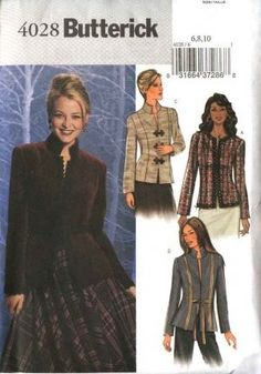 Jacket Sewing Pattern Chanel Inspired Butterick 4028 Bust 34-38 Inches Uncut Complete FF