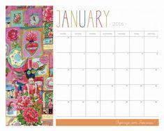 Calendário Decor 2016