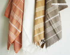 Turkish BATH Towel - Classic Peshtemal - White