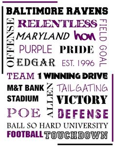 Baltimore Ravens Football Printable