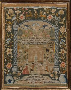 Embroidered Sampler Maker: Mary Munro (born 1776) Date: 1788 Geography: Made in Providence, Rhode Island, United States Culture: American Medium: Embroidered silk on linen