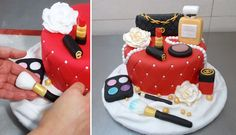 MAKE UP CAKE - HOW TO - by CakesStepbyStep