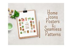 Home sweet home vector set by Teneresa on @creativemarket