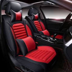 New 6D Car Seat Cover,Universal Seat Cushion,Senior Leather, Sport Car Styling,Car-Styling For Sedan SUV