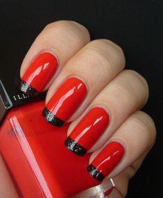 AllYouDesire: Illamasqua Alarm with Creator tips! Aline for gorgeous nails