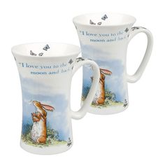Könitz 11 5 016 1780 'Guess How Much I Love You' 'I Love You to the Moon and Back' Mugs (Set of 2): Amazon.co.uk: Kitchen & Home