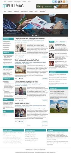FullMag Blogger Template:  FullMag is a Responsive/Mobile Friendly, 3 Columns Blogger Template with Left and Right Sidebars and 3 Columns Widgets Area in Footer. FullMag Blogger Template has a Slider, 2 Dropdown Menus, 468x60 Header Banner, Related Posts, Breadcrumb, Google Fonts, Social and Share Buttons, Tabbed Widget and More Features.  http://www.premiumbloggertemplates.com/fullmag-blogger-template/