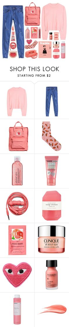 """""""Pink Fire"""" by dana-rachel on Polyvore featuring Acne Studios, Fjällräven, Avon, Soap & Glory, Urbanears, Pelle, H&M, Clinique, Perricone MD and Korres"""