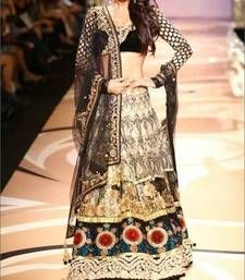 Buy Malaika Arora Beautiful Black Partywear Lehenga bollywood-lehenga online