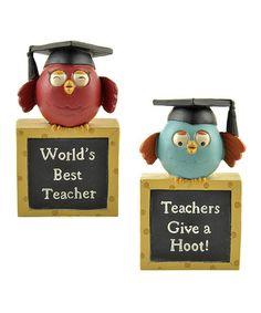This Owl Teacher Box Sign Set is perfect! #zulilyfinds