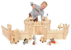 Wooden Medieval Castle Bundle--inspiration for silhouette on wall