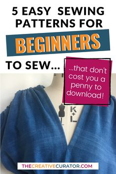 Looking for free sewing patterns for sewing patterns? Here's FIVE that are easy to sew and great for beginners to sewing clothes! Grab these free and easy sewing patterns for sewing beginners, and start practising your sewing skills! These free sewing patterns are perfect for sewing beginners who want to learn more about the process of sewing clothes.