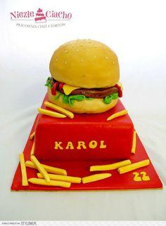 McDonald's, hamburger, frytki, tort w kształcie hamburgera, śmieszne torty, szokujące torty, Tarnów