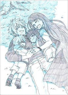 Minato, Kushina, Naruto and Manma