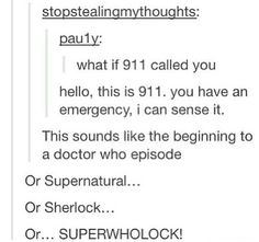 it would be 999 for doctor who though ;)