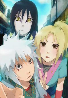 Jiraiya,Tsunade,and Orochimaru.. They're all just... too cute.. especially Orochimaru...