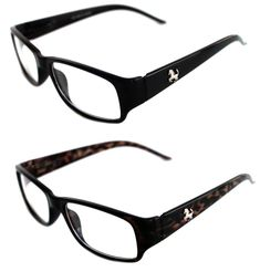 3e4ee87ff93bb Men s small rectangular Clear Lens Designer Eye Glasses Silver Stallion  Horse  Unbranded  Rectangular Lenses