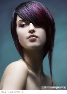 Glamorous Purple Hair Style