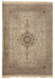 contemporary Turkish silk rug  Turkey  size approximately 6ft. 1in. x 9ft. 1in.