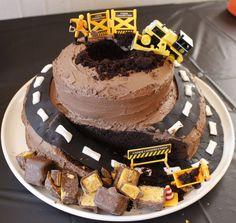 Construction Cake - http://www.five-forks.blogspot.com.au/ #construction #cake