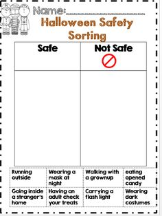 first grade halloween math ela activities - Halloween Safety Printables