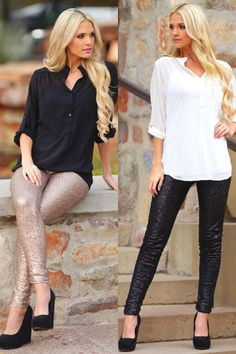 Life Of The Party Sequin Skinny Pants from Closet Candy Boutique