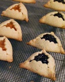 Purim Cookies from Martha Stewart's kitchen (inc. w/chocolate filling)