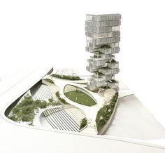 Lau: Collaborative Tower — The Archiologist Architecture Concept Drawings, Green Architecture, Architecture Student, Futuristic Architecture, Sustainable Architecture, Residential Architecture, Sustainable Design, Architecture Design, Biophilic Architecture