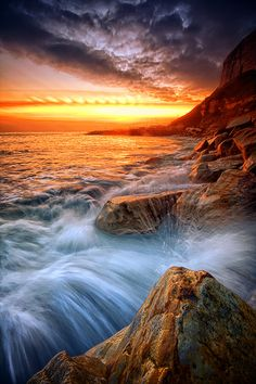 ~~Rock a nore splash by Mark Leader ~ Hastings, East Sussex~~ Beautiful Hotels, Beautiful World, Landscape Photography, Nature Photography, What A Wonderful World, Cool Landscapes, Nature Images, Great Photos, Wonders Of The World